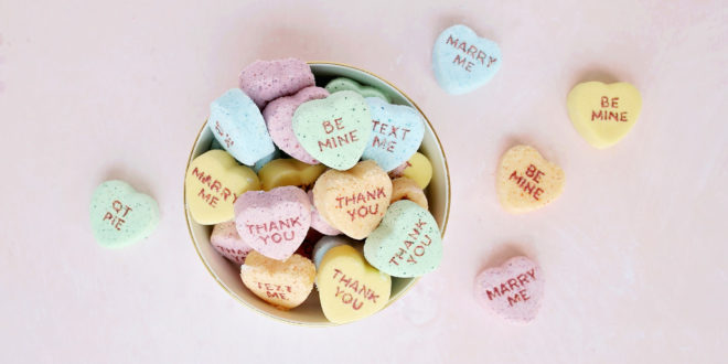 DIY Conversation Heart Bath Bombs   Washington FAMILY magazine