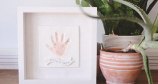 How to make a clay handprint in a frame for Father's Day