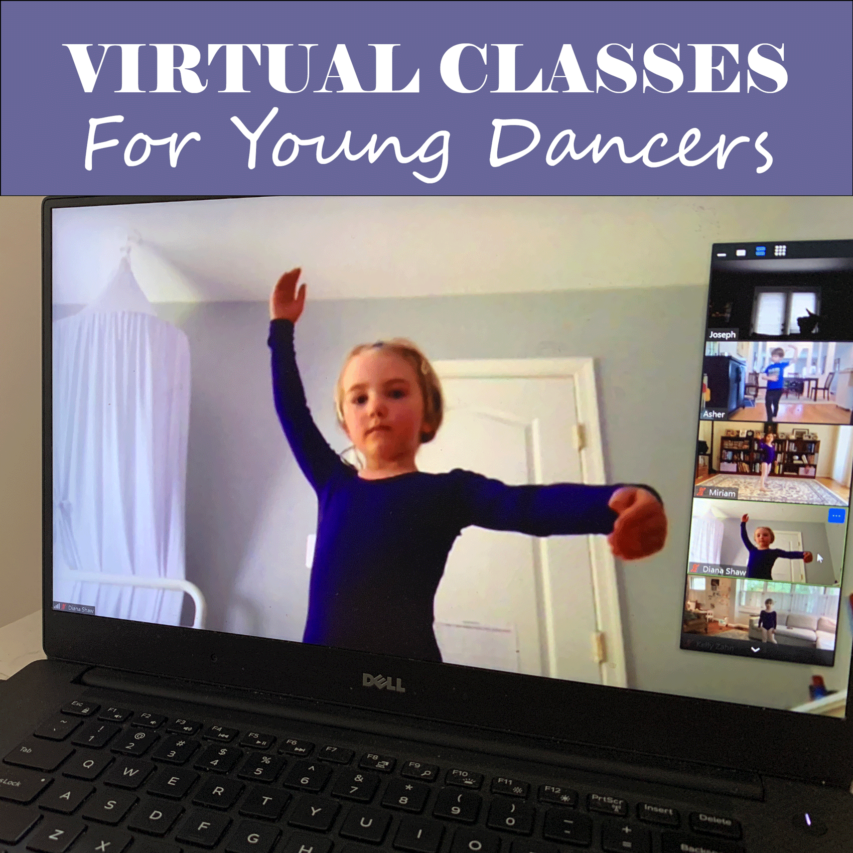 Virtual Early Dance Classes at Maryland Youth Ballet