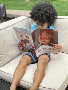 """Cyana Riley's son reads his mom's new book, """"Not So Different"""""""