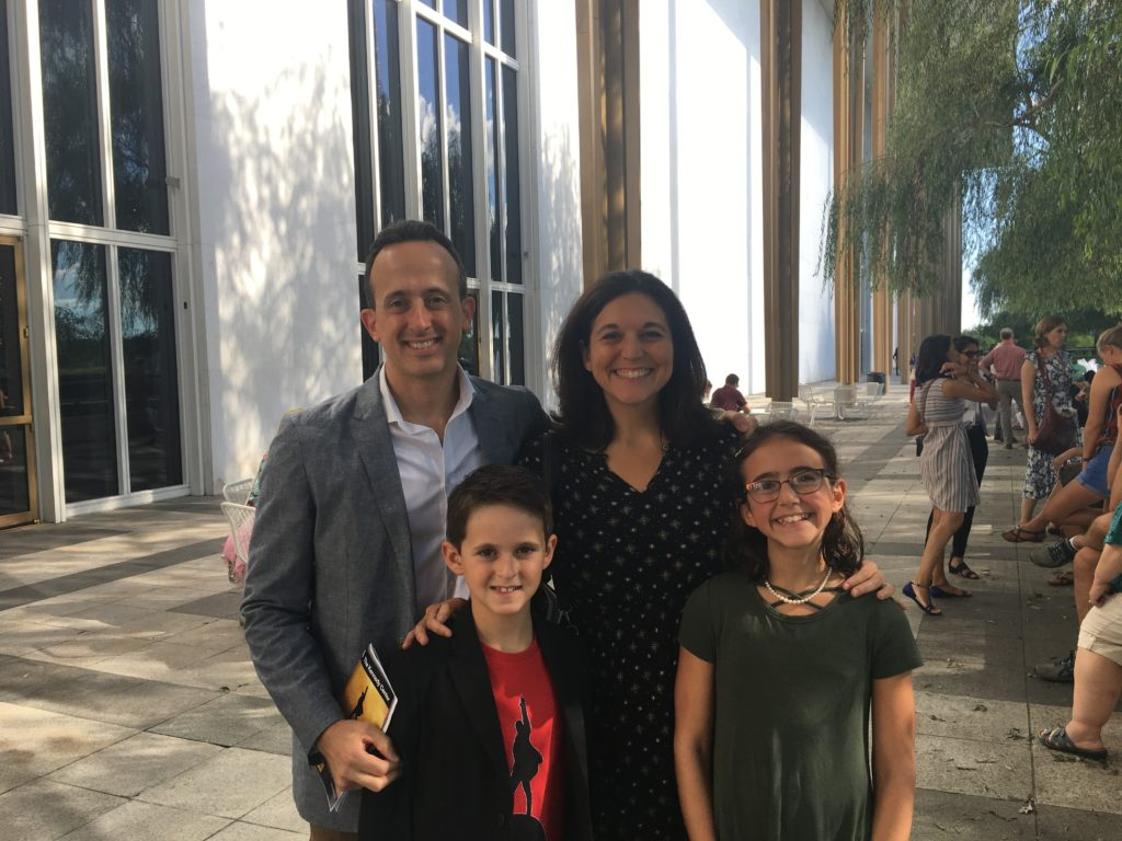 Steve Silvestro and family at the Kennedy Center in Washington, DC