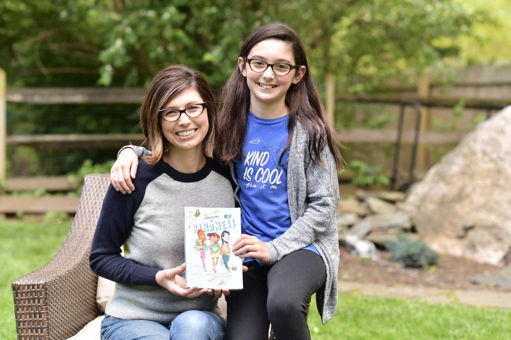 """Sophia Fox and her mom, Carrie, authors of """"Adventures in Kindness."""""""