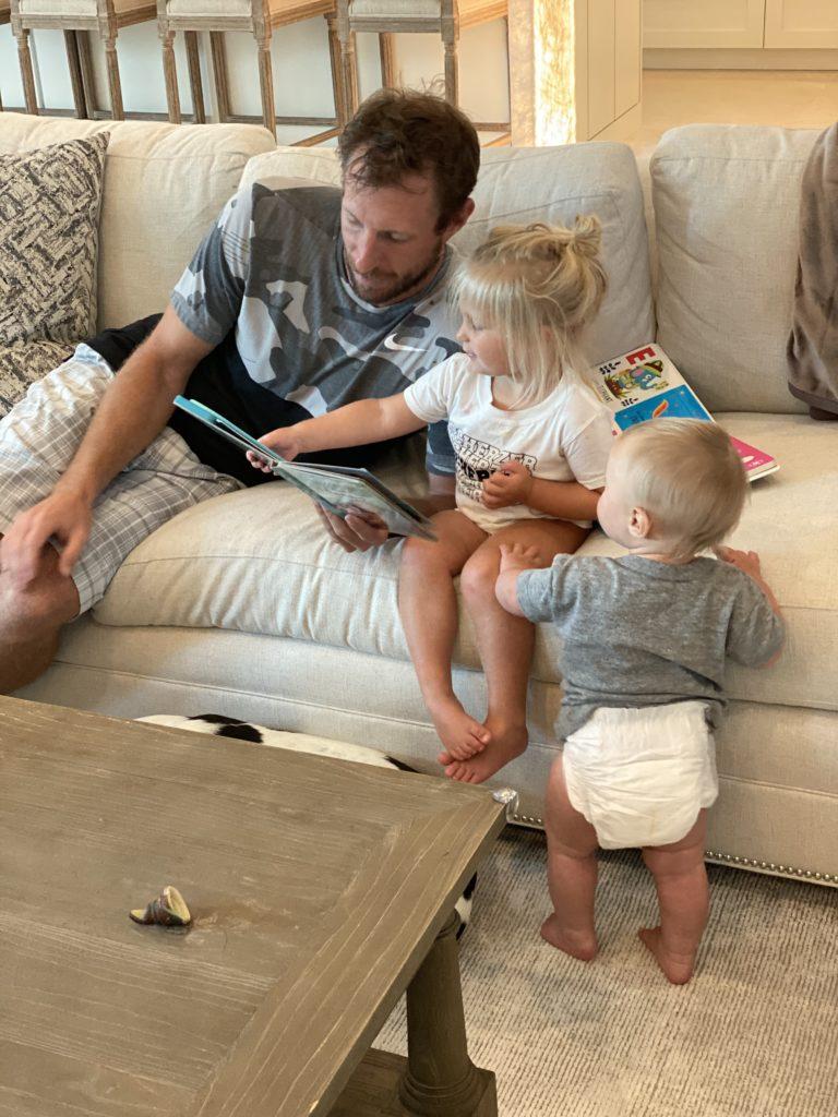 Max Scherzer at home with his kids