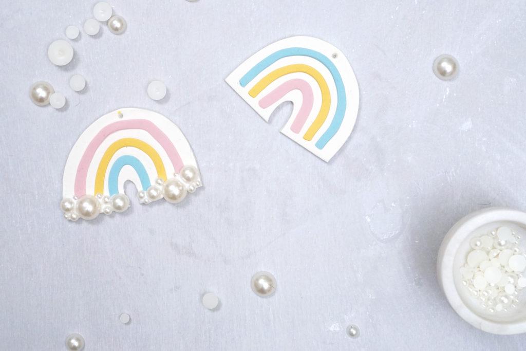 how to make diy clay rainbow ornaments