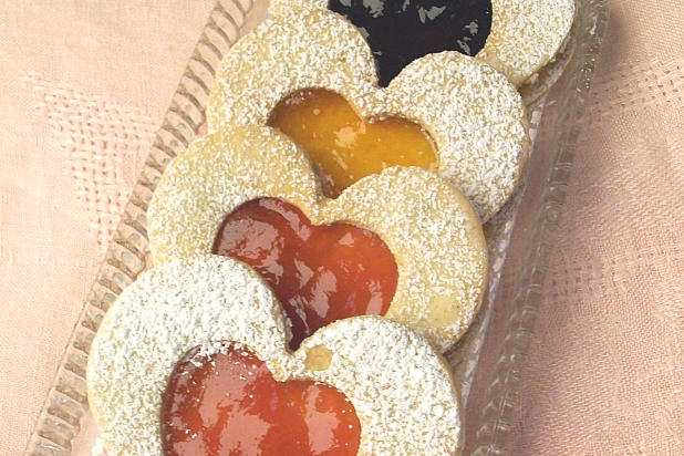 Heart Linzer Cookies for Valentine's Day