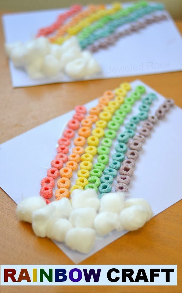 Froot Loop Rainbow St. Patrick's Day craft