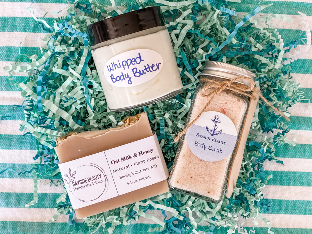 DIY sugar scrub and whipped body butter