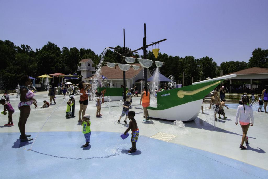 Special Harbor Sprayground Accessible Playground DC